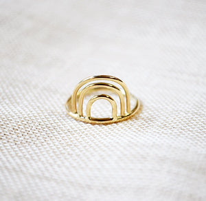 Rainbow ring - 14K GOLD