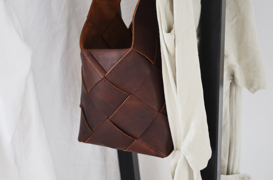 Woven Bag Small - Dark Brown