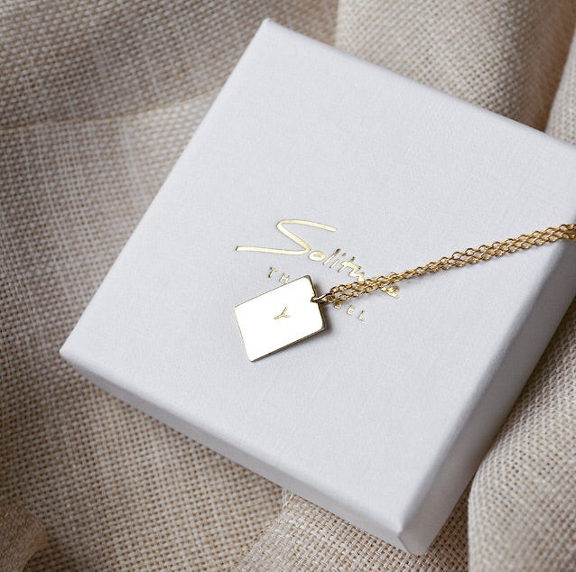 Initial necklace - 14k Gold or plated