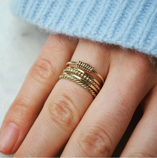 Swirl ring - 14K GOLD