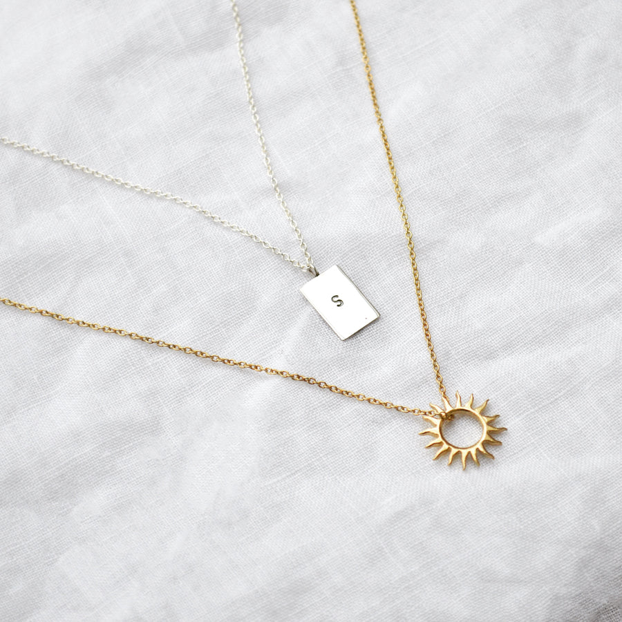 Initial necklace - zilver