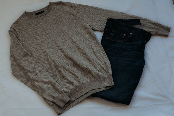 Mens Grey Blend Sweater