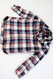 Plaid boys button up