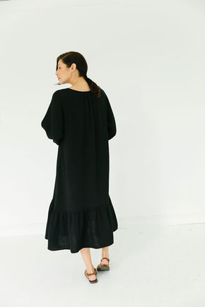 The James Dress in Ebony