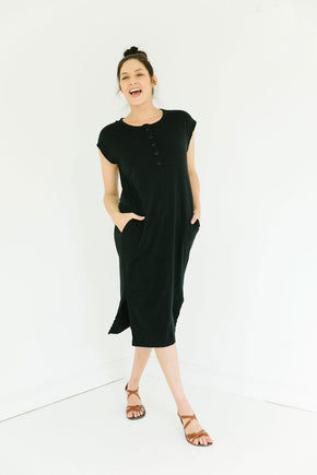The Organic Market Dress in Ebony