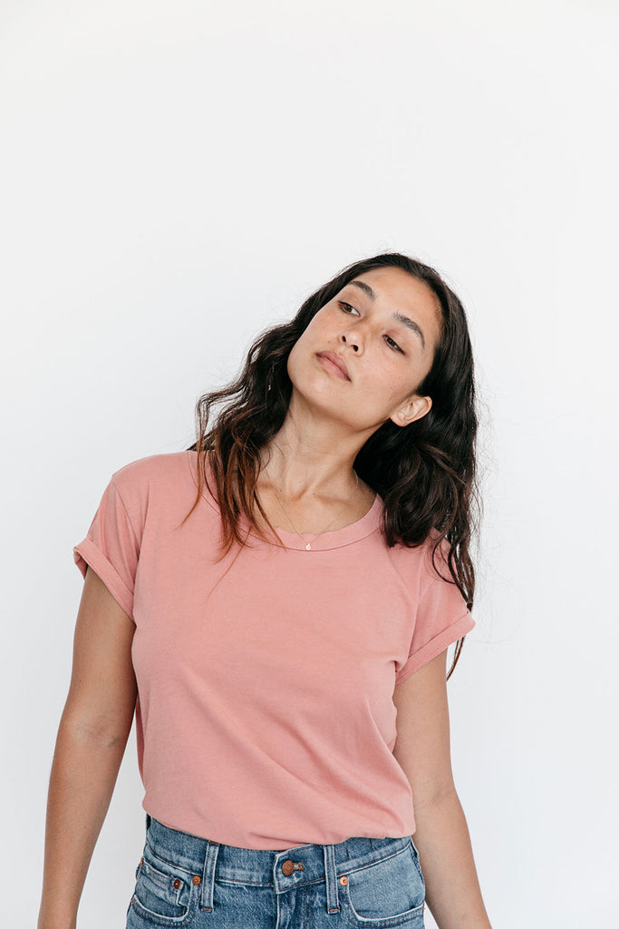 The Organic All Day Tee in Canyon Clay