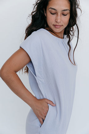 The Cocoon Dress in Gray Dawn - Final Sale, Last Chance!