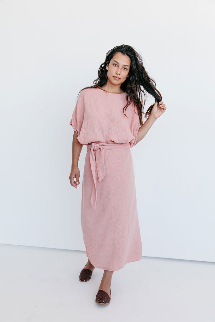 The Dolman Dress in Clay