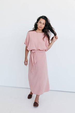 The Dolman Dress in Clay (2XL)