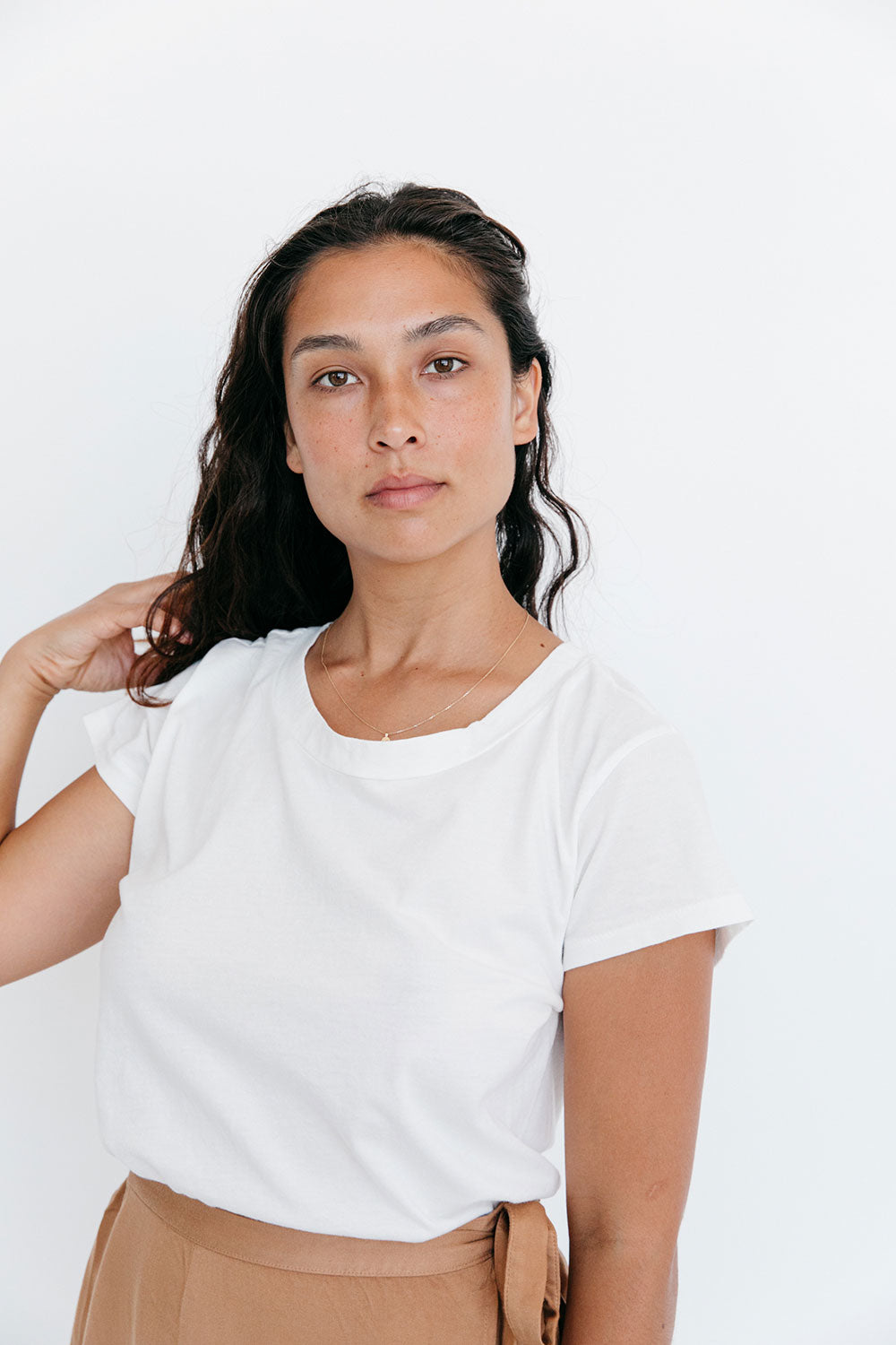 The Organic All Day Tee in Vintage White
