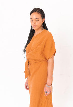 The Dolman Dress in Meerkat - FACTORY SECOND (FINAL SALE)