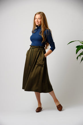 The Symphony Skirt in Olive (Limited Edition)