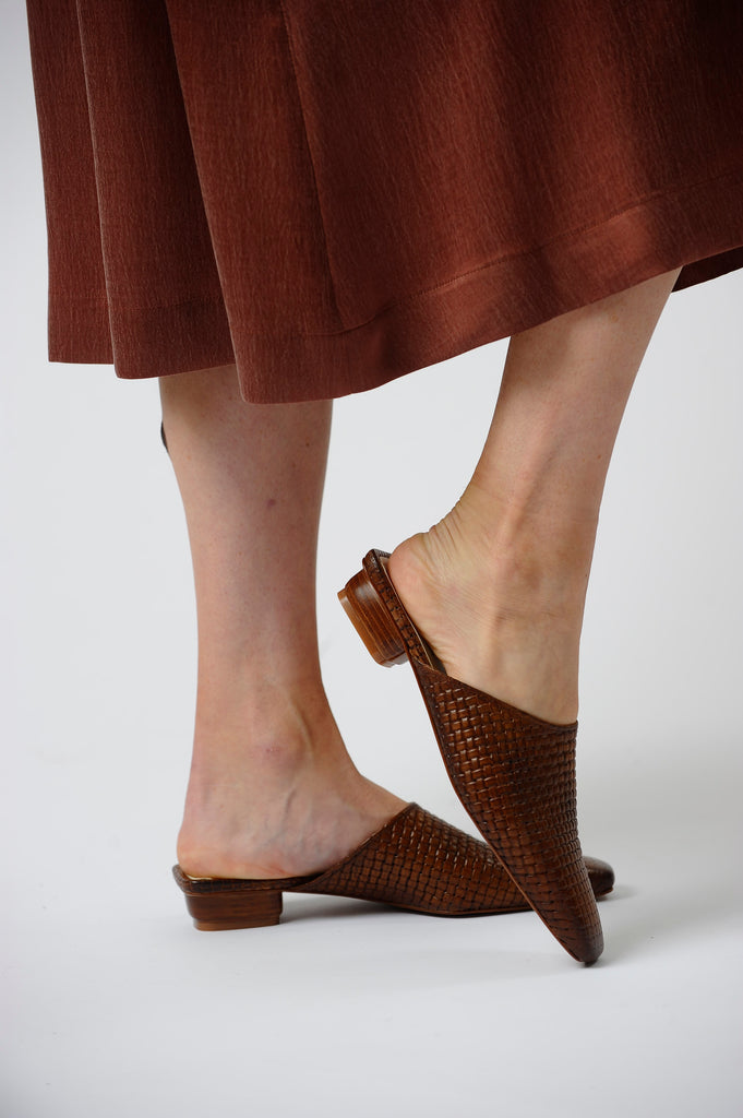 The Melody Mule in Cognac Genuine Leather