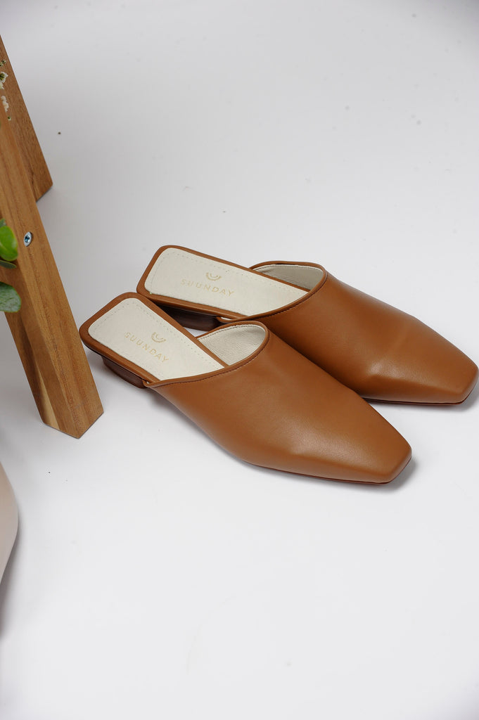 [COMING SOON] The Melody Mule in Camel Vegan Leather