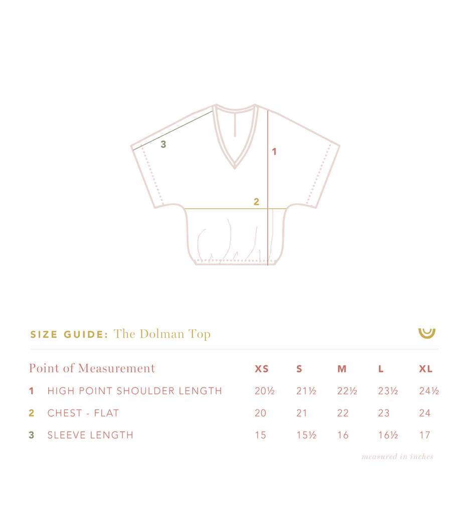 The Gauze Dolman Top in Parchment