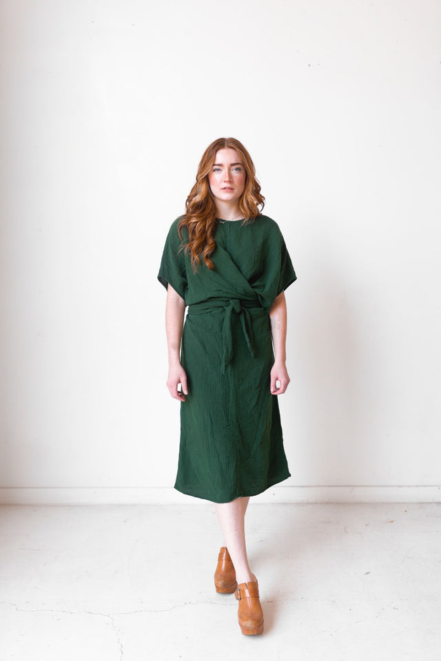 The Dolman Dress in Kombu - FACTORY SECOND (FINAL SALE)