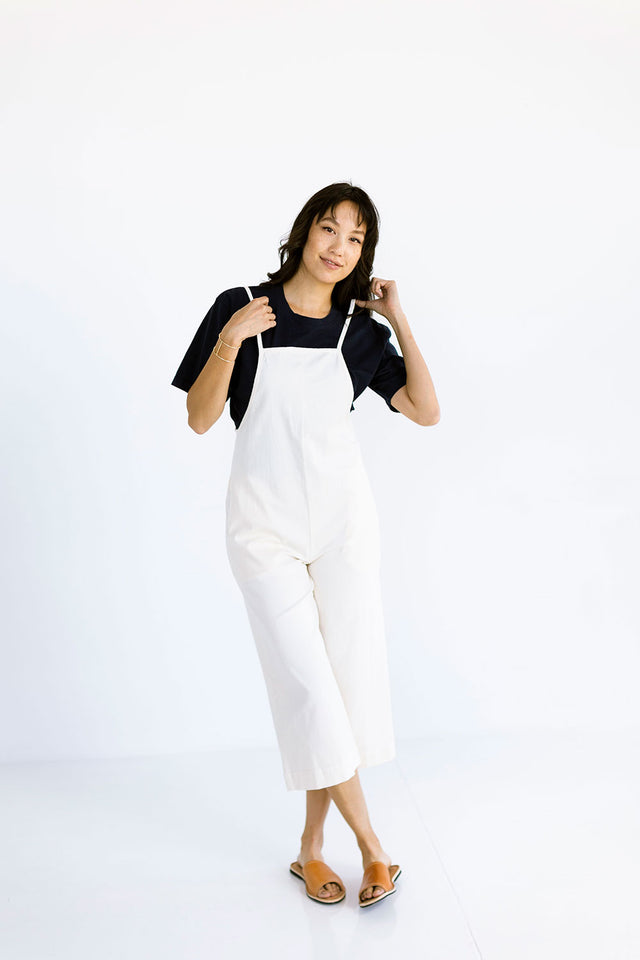 The Layering Overalls in Eggnog - FINAL SALE, LAST CHANCE