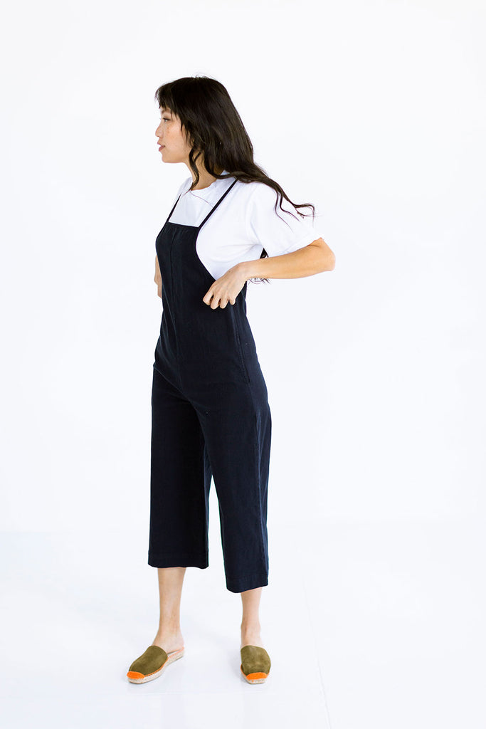 The Layering Overalls in Dark Navy
