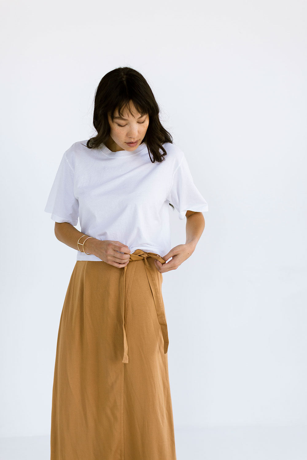 The Boxy Crop Tee in White - FINAL SALE, LAST CHANCE