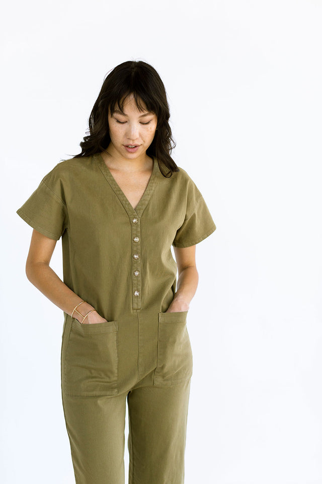The Coverall in Fir Green - FINAL SALE, LAST CHANCE