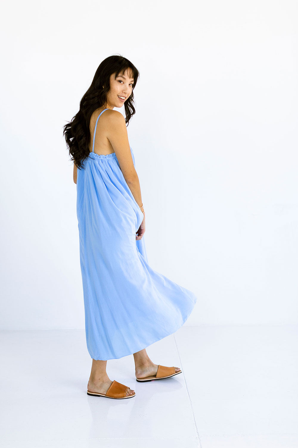 The Maxi Tie Dress in Chambray Blue - FINAL SALE, LAST CHANCE