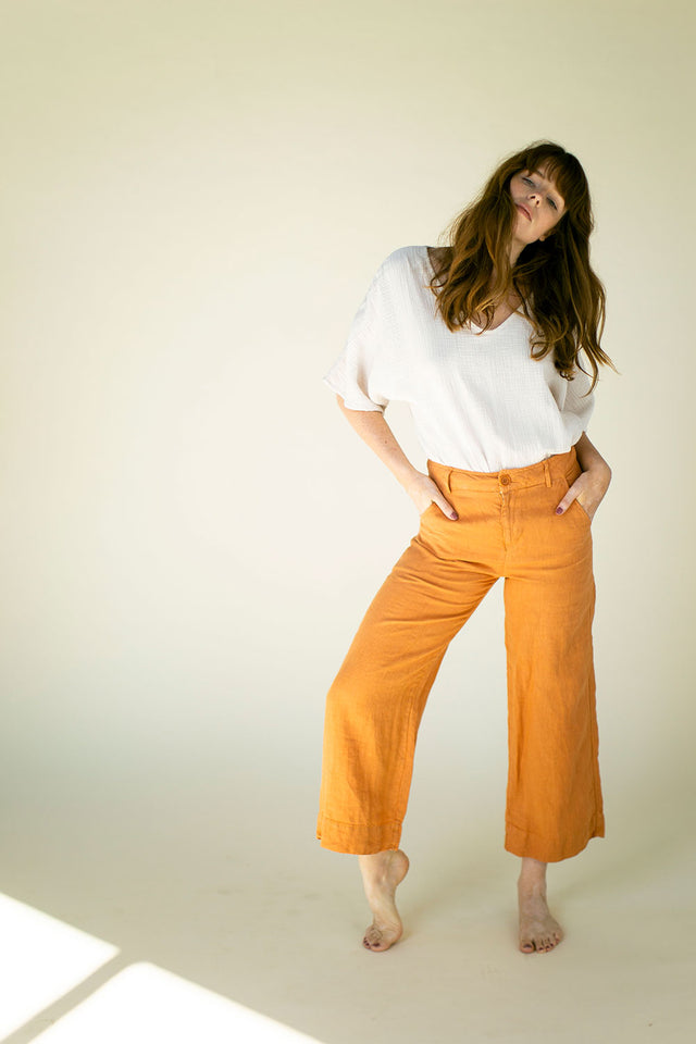 The Davy Pant in Caramel  (Size L) - FINAL SALE, LAST CHANCE