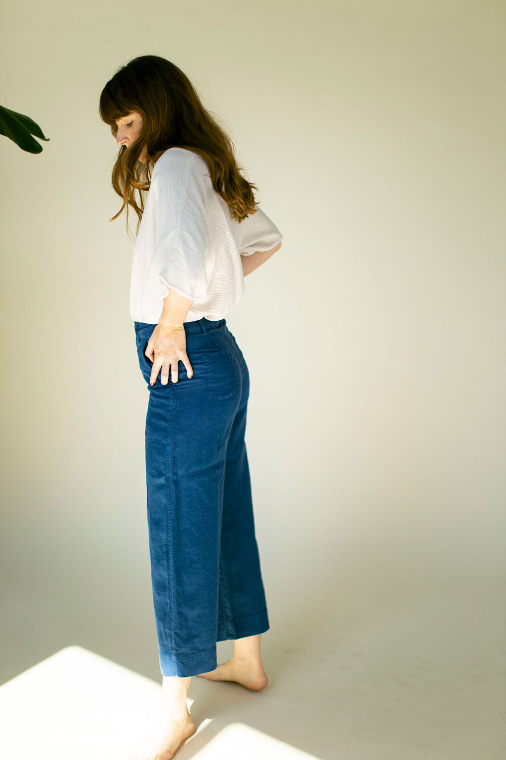 The Davy Pant in Blue Opal