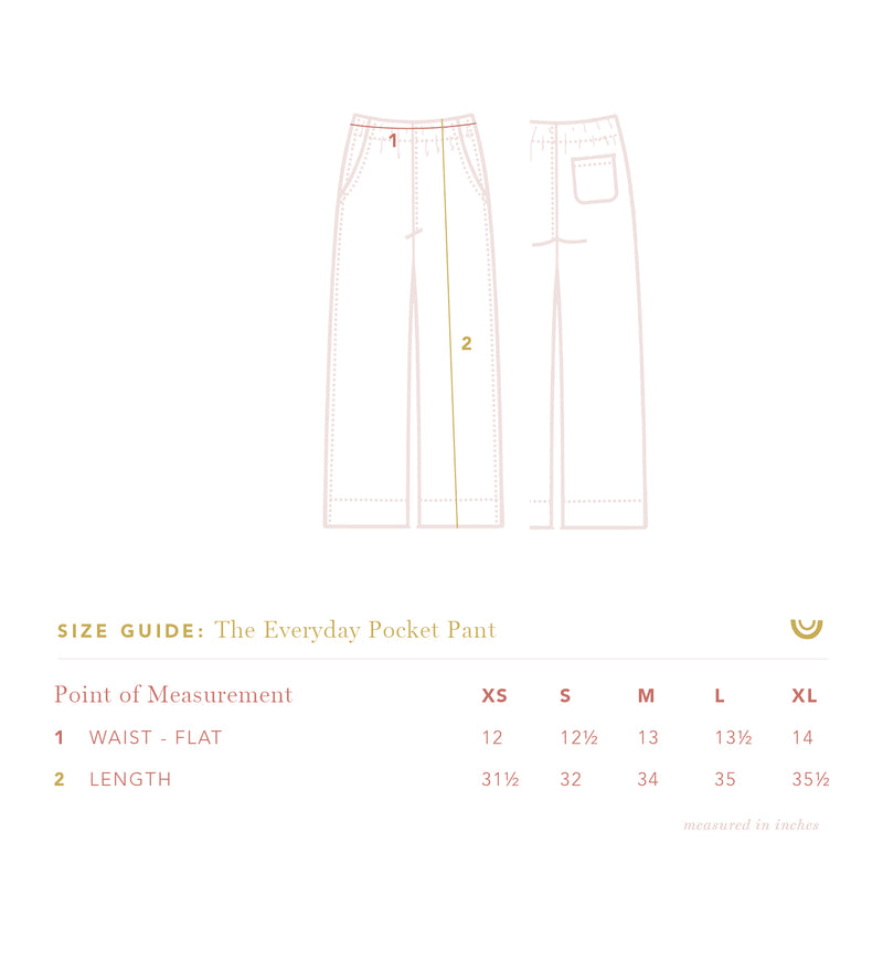The Everyday Pocket Pant in Gray Dawn Stripe - Final Sale, Last Chance!