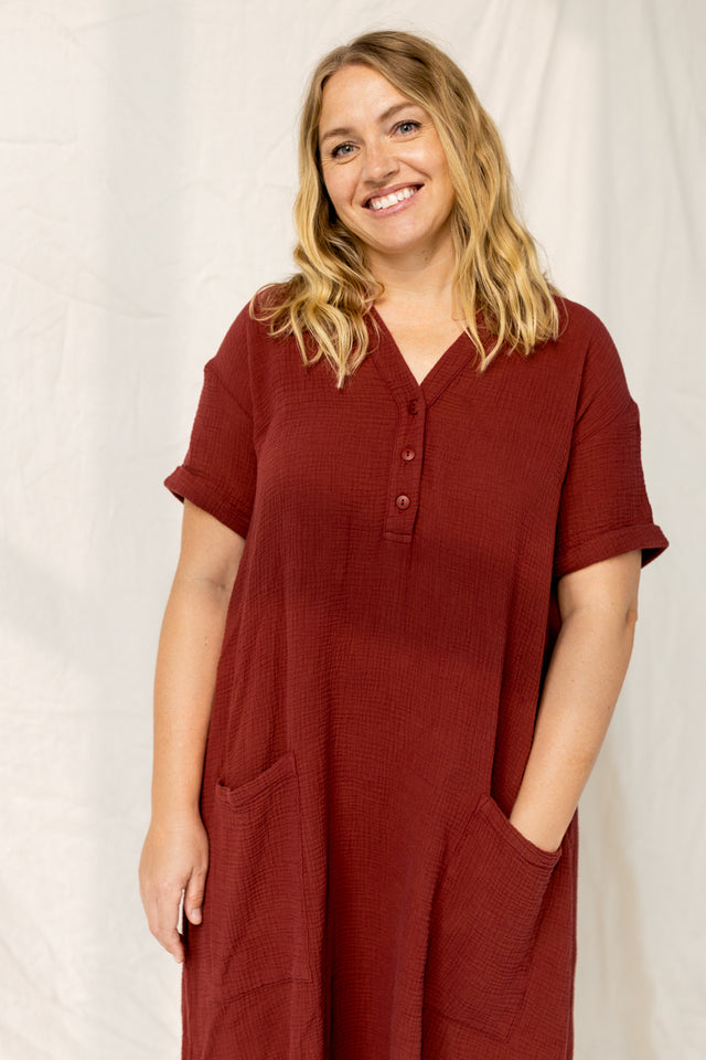 The Everyday Dress in Red Pear