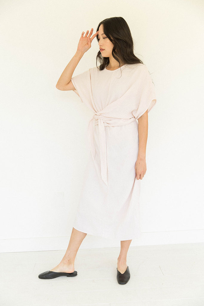 The Dolman Dress in Eggnog (2XL)