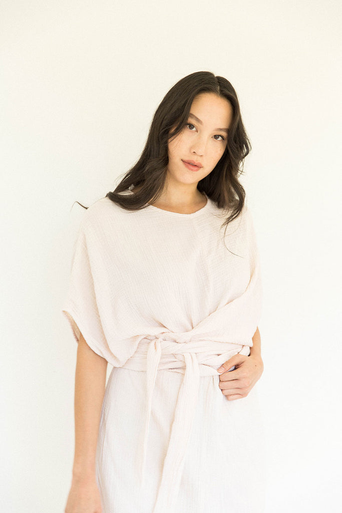 The Dolman Dress in Eggnog