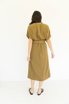 The Dolman Dress in Tapenade