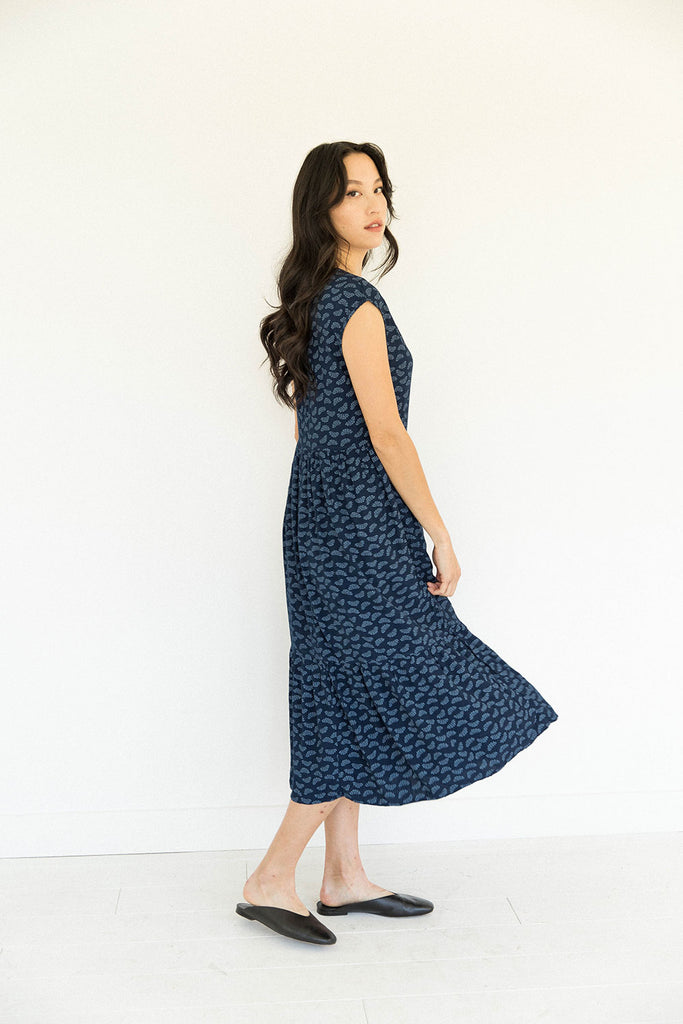 The Tiered Dress in Wildflower Seed - FINAL SALE, LAST CHANCE