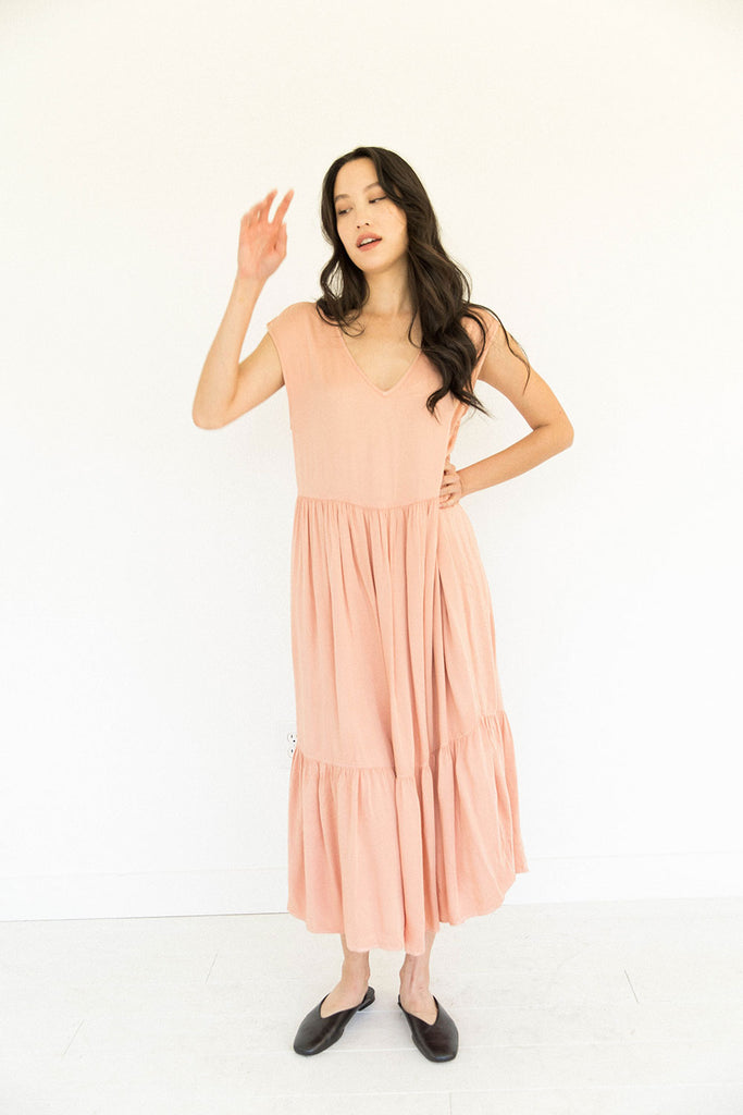 The Tiered Dress in Clay - FINAL SALE, LAST CHANCE