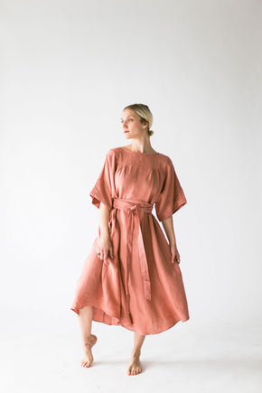 The Ema Dress in Clay