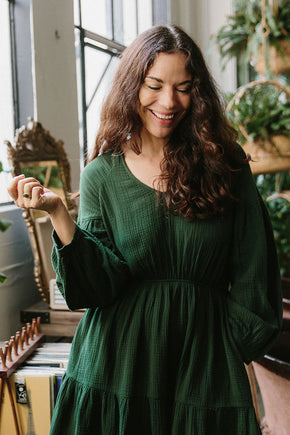 The Sara Dress in Kombu