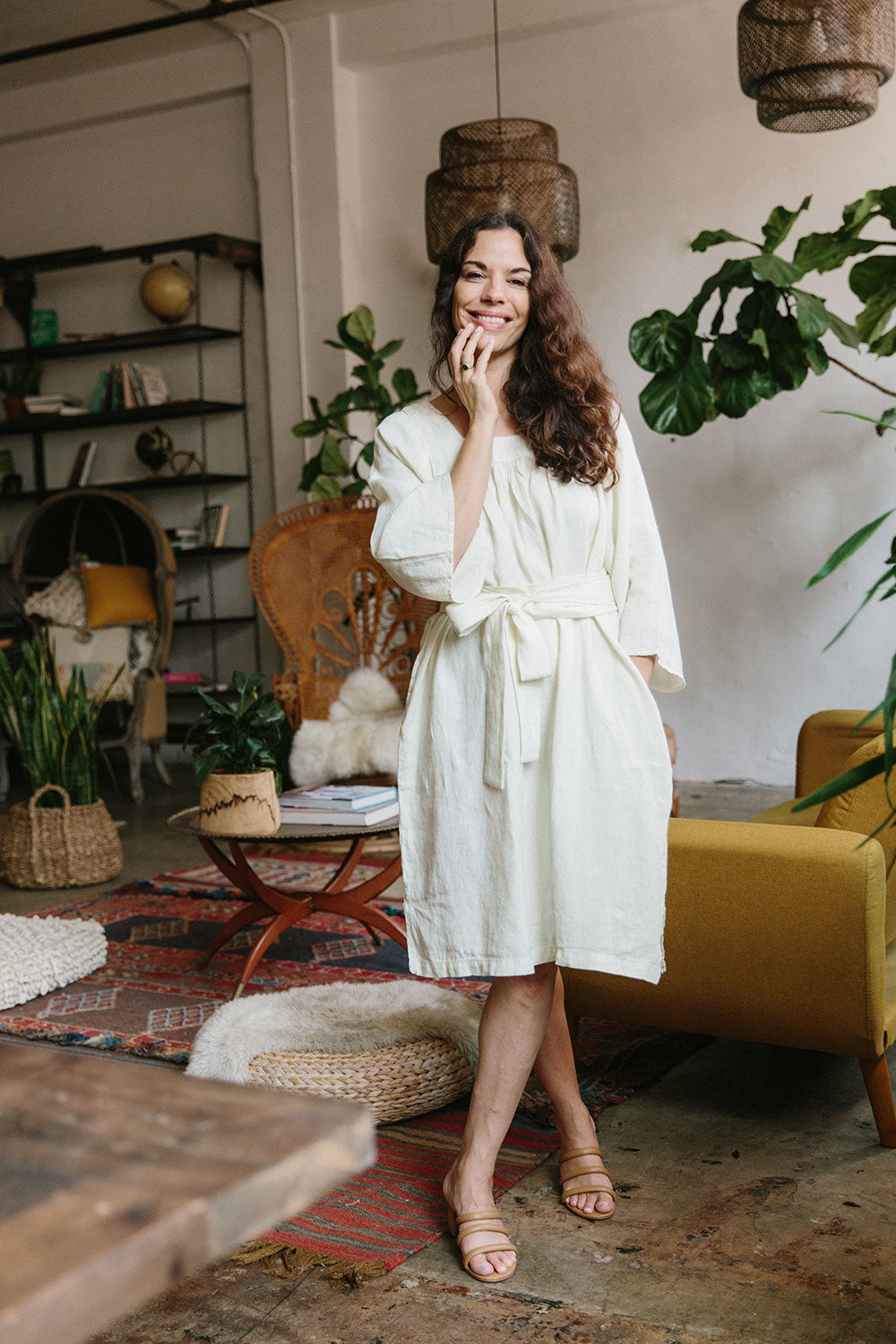 The Yoke Dress in Tofu