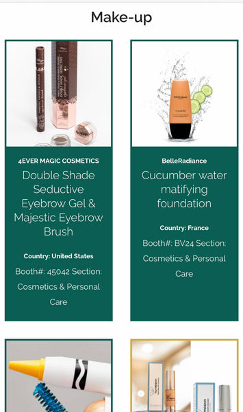 Click here-Our eyebrow kit has been selected as one of four finalists in the Makeup category with our product, Double Shade Seductive Eyebrow Gel & Majestic Eyebrow Brush, of the Cosmoprof North America Awards!