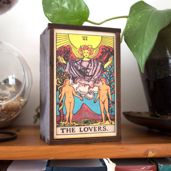 Tarot - 6 - The Lovers Full Color Stash Box