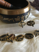 Tibetan Singing Bowl Enamel Pin