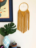 Sunflower Yellow Dreamcatcher with Selenite Rod