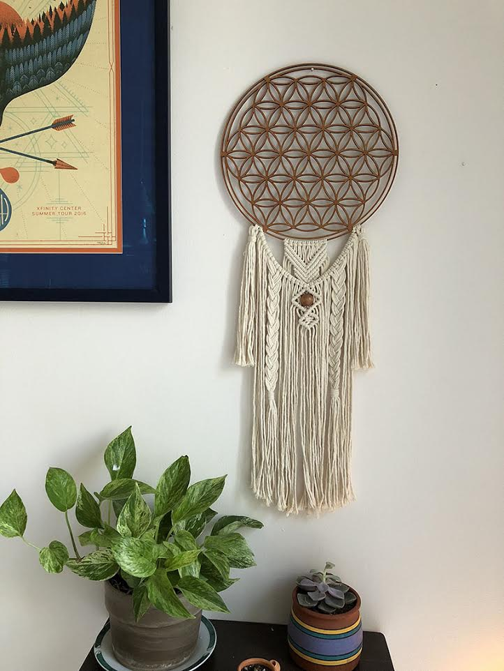 Large Flower of Life Dreamcatcher