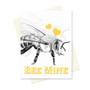 Bee Mine. A6 Card