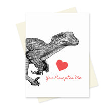 Dino Love Valentines Box Set of 4 Cards.