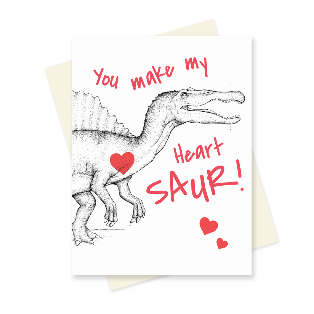 You make my Heart Saur! A6 Card