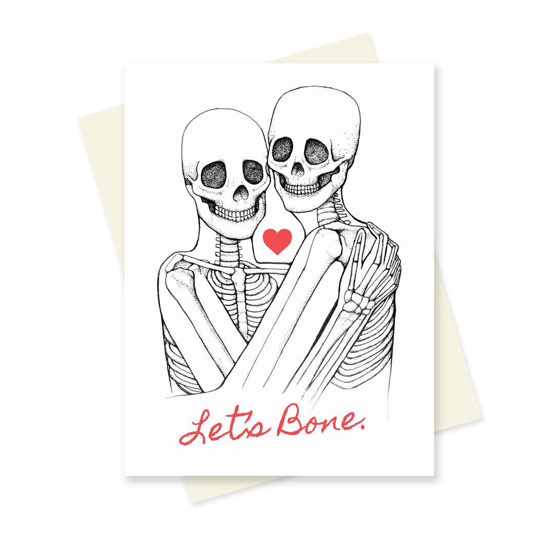 Let's Bone. A6 Card