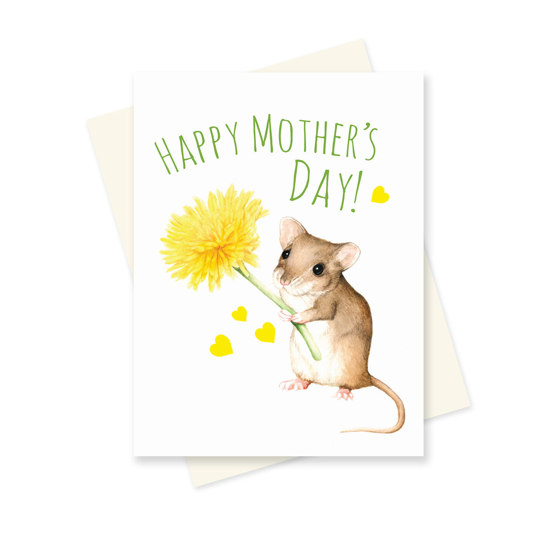 Flower Mouse Mother's Day. A6 Card