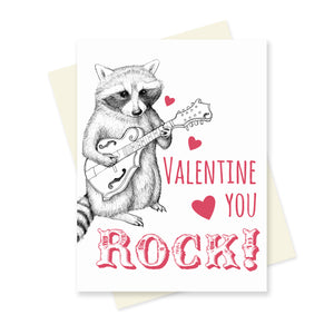 You Rock Valentine. A6 Card