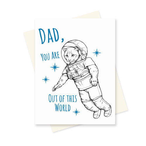 Out of this World Dad. A6 Card