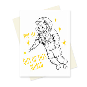 Out of this World. A6 Card